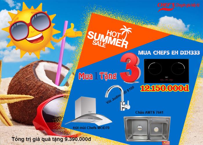 Khuyến mãi bếp điện từ chefs eh mix333