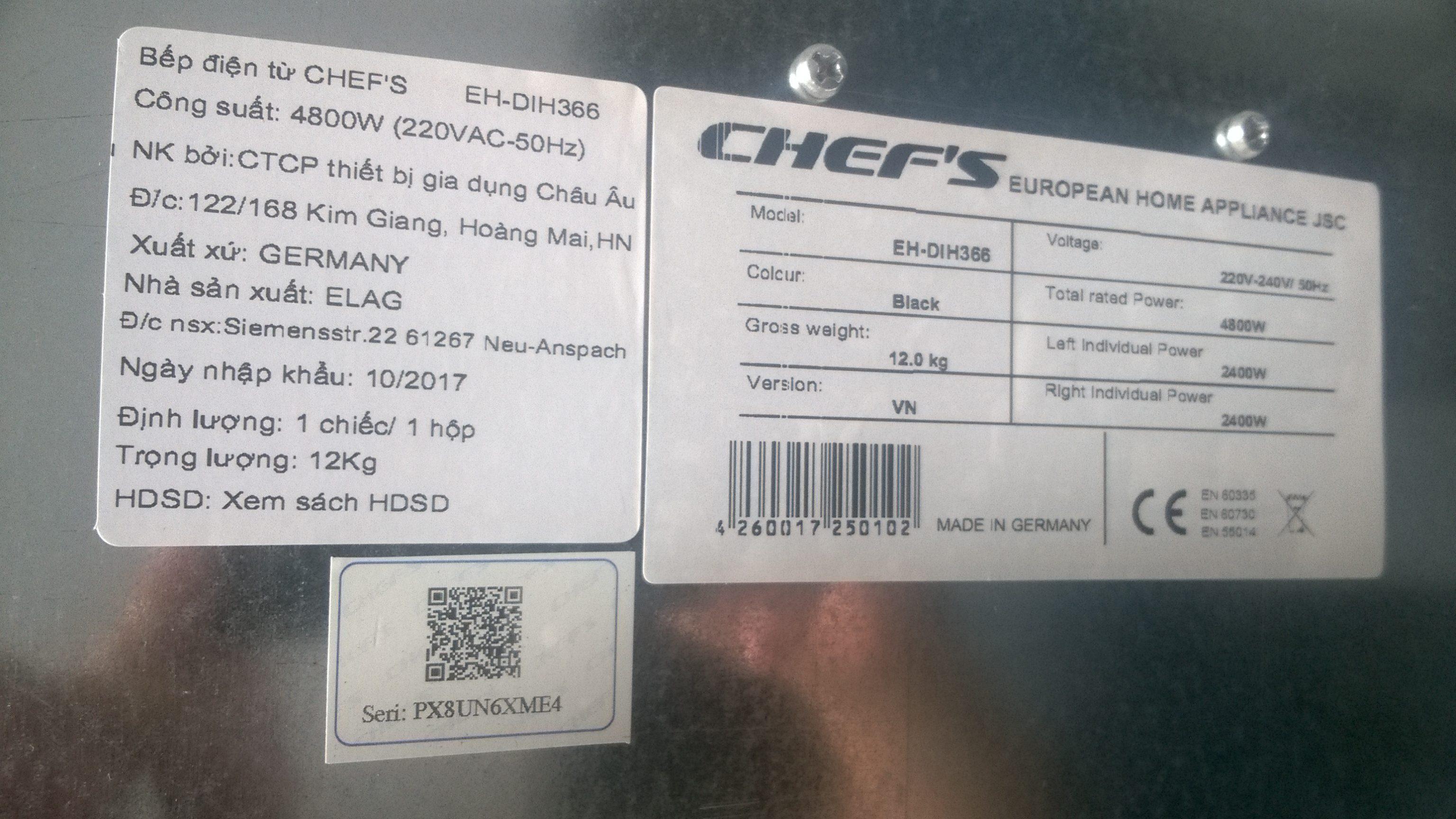Cách nhận biết những chiếc bếp từ Chefs chính hãng