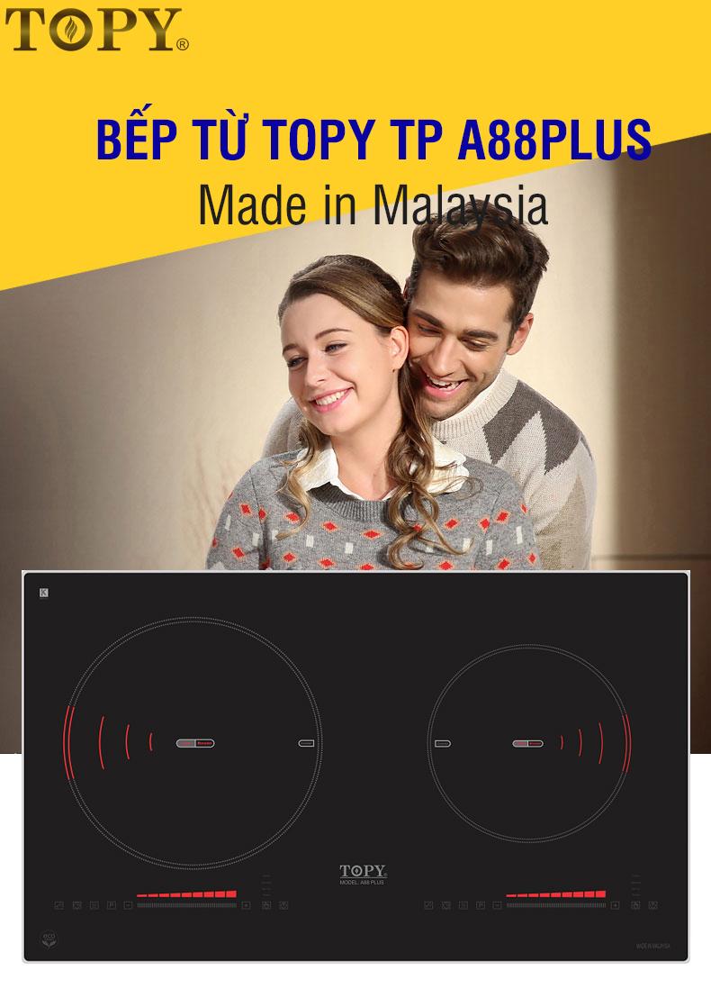 Đánh giá bếp từ Topy TP A88Plus nhập khẩu Malaysia giá 9,8 triệu