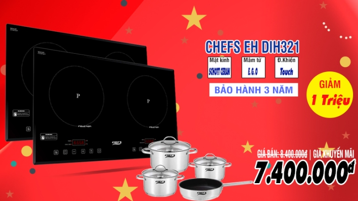khuyến mãi bếp từ chefs eh dih321