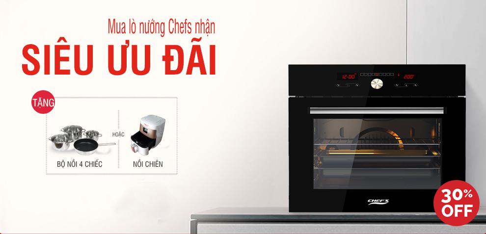 khuyến mãi lò nướng chefs