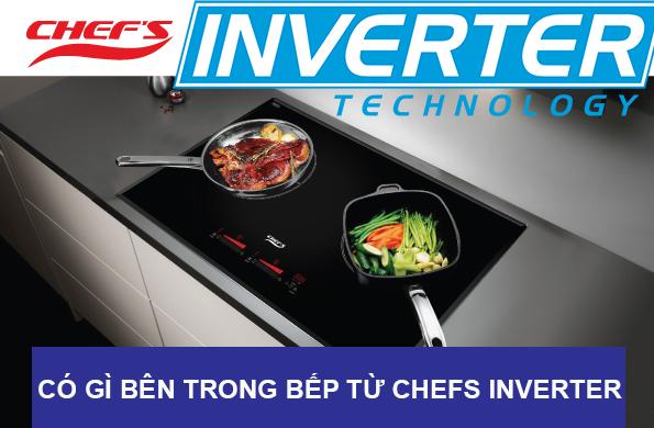 bên trong bếp từ chefs inverter