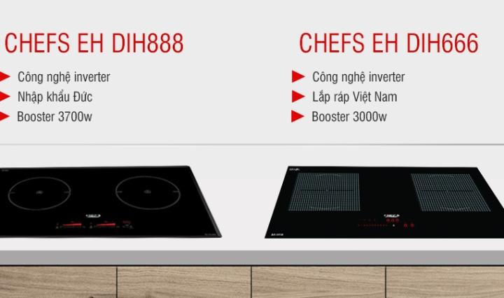 so sánh bếp từ chefs eh dih888 và dih666