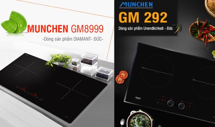 so sánh bếp từ munchen gm 292 và gm 8999