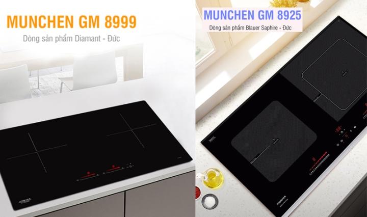 so sánh bếp từ munchen gm8925 vs gm 8999