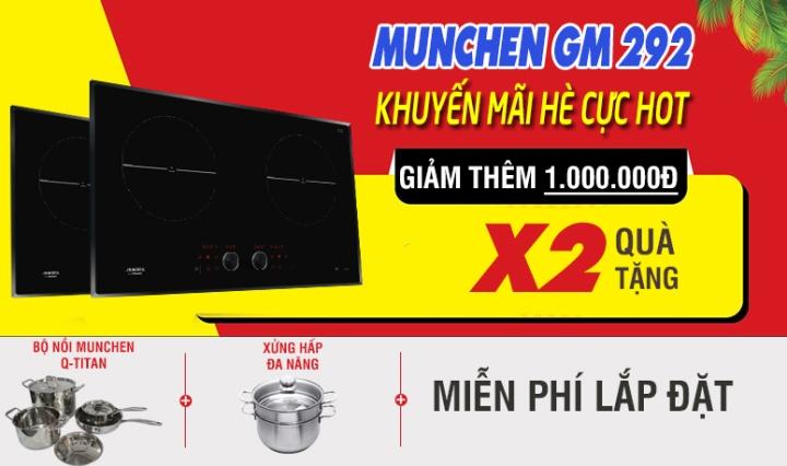KHUYẾN MÃI bếp từ munchen gm 292