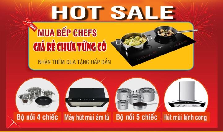sale hot bếp từ chefs