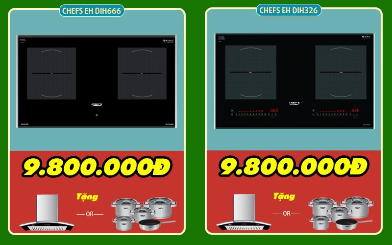 so sánh bếp từ chefs eh dih666 và dih326